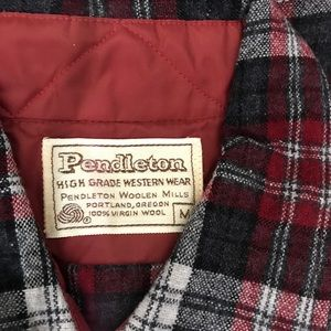 Variety of Pendleton wool shirts with pearl snaps